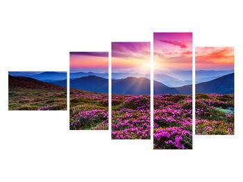Tablou cu peisaj montan înflorit (K011322K11060)