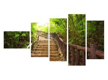 Tablou cu trepte ducând prin peisaj (K011329K11060)