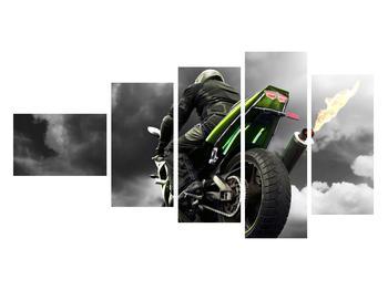 Tablou cu motociclist pe motocicletă (K011383K11060)