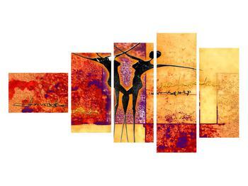 Tablou abstract cu doi dansatori (K011975K11060)