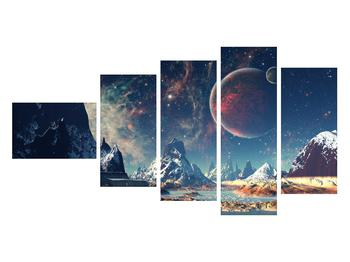 Tablou cu peisaj montan cu planete (K012168K11060)