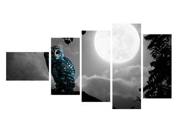 Tablou cu bufnița nocturnă (K012185K11060)