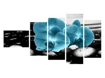 Tablou cu flori de orhidee albastre (K012398K11060)