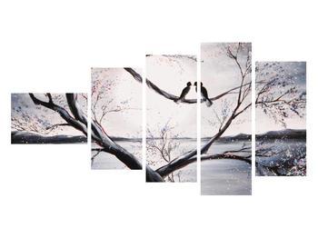 Tablou cu păsări îndrăgostite (K012516K11060)
