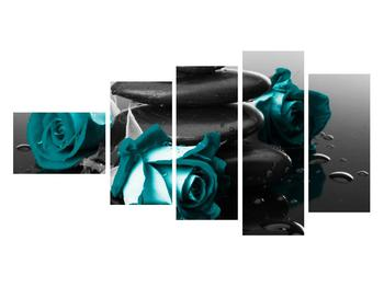 Tablou cu trandafiri albastre (K012553K11060)