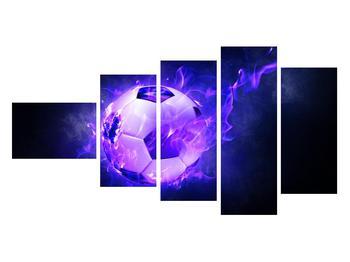 Tablou cu mingea de footbal în plasă (K014164K11060)