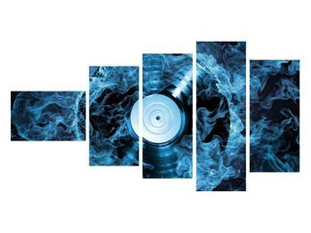 Tablou cu placă de gramofon în foc albastru (K014442K11060)