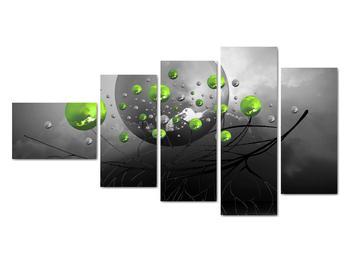 Obraz zelených abstraktných gulí (V020103V11060)