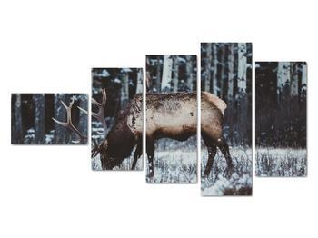 Obraz - jeleň v zime (V020179V11060)