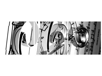 Moderní obraz houslového klíče (F000206F12040)