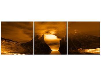 Obraz skály a pláže (F000300F12040)