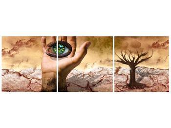Obraz oka na dlaňi (F001485F12040)