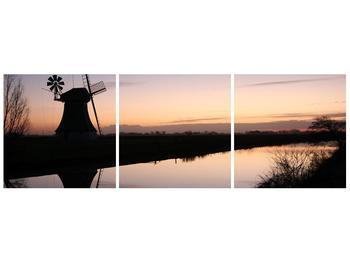 Obraz rybníku u mlýna (F001556F12040)