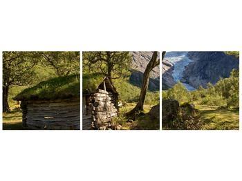 Obraz horské chatrče (F001636F12040)