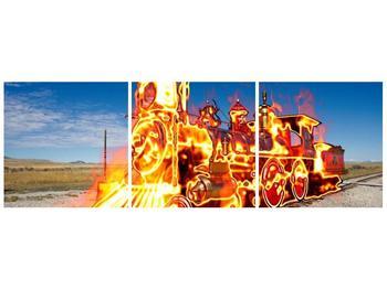 Obraz ohnivé lokomotivy (F001696F12040)