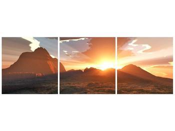 Obraz západu slunce nad horama (F001700F12040)