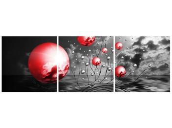 Moderní obraz - červené koule (F002086F12040)