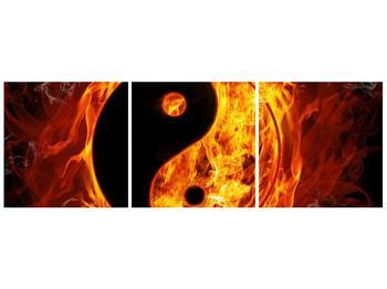 Obraz hořícího jin jang (F002309F12040)