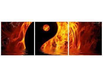 Obraz hořícího Jin Jangu  (F002885F12040)