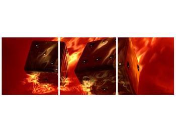 Moderní obraz hořících herních kostek (F004319F12040)