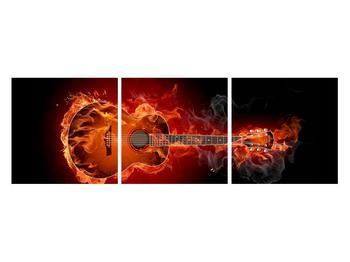 Lángoló gitár képe (K011168K12040)