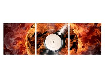 Tablou cu placă de gramofon în foc (K011171K12040)