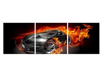 Tablou cu mașina arzând (K011174K12040)