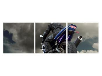 Tablou cu motociclist cu motocicletă (K011302K12040)