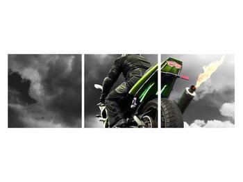 Tablou cu motociclist pe motocicletă (K011383K12040)