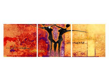 Tablou abstract cu doi dansatori (K011975K12040)