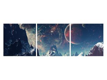 Tablou cu peisaj montan cu planete (K012168K12040)