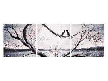 Tablou cu păsări îndrăgostite (K012516K12040)