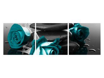 Tablou cu trandafiri albastre (K012553K12040)