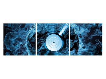 Tablou cu placă de gramofon în foc albastru (K014442K12040)