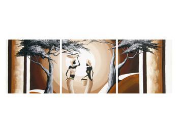 Tablou oriental cu două femei și copac (K014682K12040)
