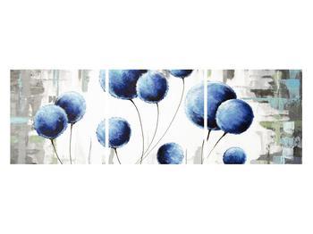 Abstraktní obraz - modré balónky (K014707K12040)