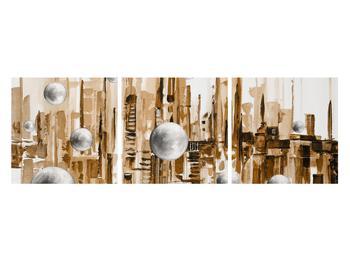 Abstraktní obraz - město (K014743K12040)