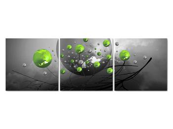Obraz zelených abstraktných gulí (V020103V12040)