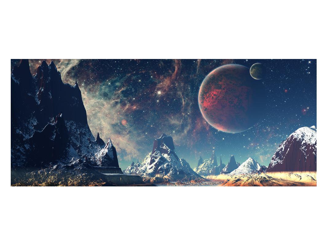 Tablou cu peisaj montan cu planete (K012168K12050)