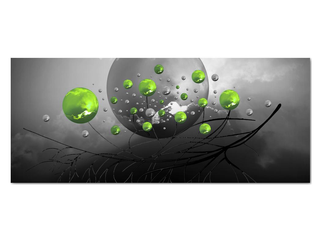 Obraz zelených abstraktných gulí (V020103V12050)
