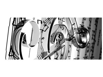 Moderní obraz houslového klíče (F000206F12050)