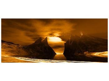 Obraz skály a pláže (F000300F12050)