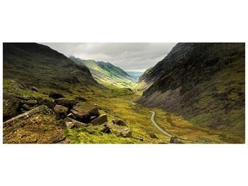 Obraz cesty uprostřed hor (F000621F12050)