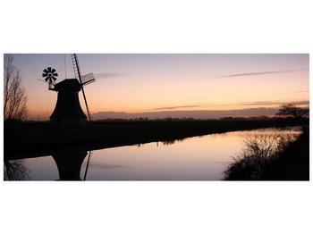 Obraz rybníku u mlýna (F001556F12050)