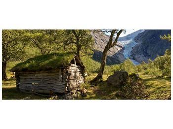Obraz horské chatrče (F001636F12050)