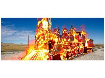 Obraz ohnivé lokomotivy (F001696F12050)