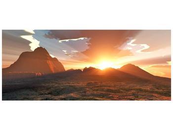 Obraz západu slunce nad horama (F001700F12050)