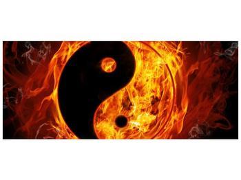 Obraz hořícího jin jang (F002309F12050)