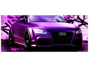 Obraz fialové Audi (F002349F12050)