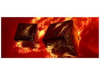 Moderní obraz hořících herních kostek (F004319F12050)